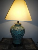 blue-green table lamp in Savannah, Georgia