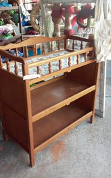 Vintage solid wood changing table in DeRidder, Louisiana