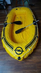 Boat / Dingy -- inflatable. German made by Opel in Okinawa, Japan