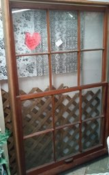 Vintage Double Window Complete  in Solid Wood Frame in Leesville, Louisiana