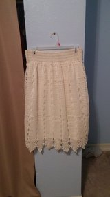white Lacy skirt in 29 Palms, California