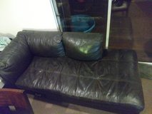 2 piece leather L shaped couch in Fairfield, California