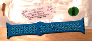 Apple Watch band 38mm Blue orbit & gamma blue sport silicone. in Fort Campbell, Kentucky