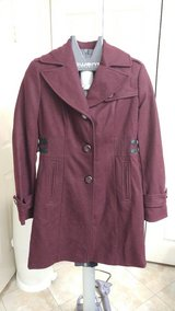Ladies Burgundy Wool Coat - Worn once in CyFair, Texas