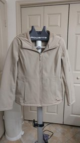 Ladies Calvin Klein tan, hooded jacket in CyFair, Texas