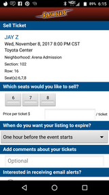 Jayz tickets 3 in Fort Bliss, Texas