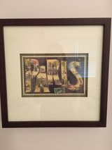 "Paris Wall Art: Pair of Framed Paris ""Vintage"" Postcards in St. Charles, Illinois"
