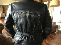 Harley Davidson leathers. Jkt with zip out liner and removable crash pads XS. Chaps XS and boots... in Louisville, Kentucky