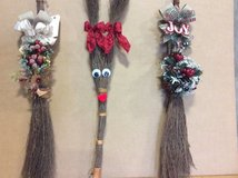 Christmas brooms in Macon, Georgia