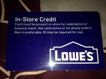 Lowes card ($120) in DeRidder, Louisiana