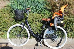 Mountaineer Paris 28 Inch Quickfix Basket Bike Bicycle 6 Gears Shimano + Light Retro Woman in Wiesbaden, GE