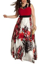 AMZ PLUS Womens Sleeveless Sling Print Long Swing Dress in Fort Campbell, Kentucky