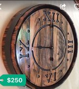wine barrel clock in Tinley Park, Illinois
