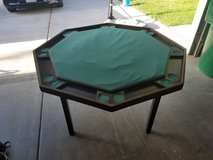 Solid wood poker table in Temecula, California