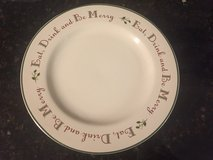 """16 Eat, Drink and Be Merry 8"""" Plates in Wheaton, Illinois"""