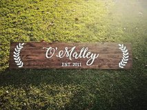6 foot stained wood sign - customized in Byron, Georgia