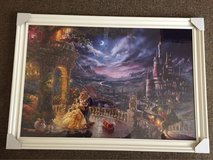 LARGE FRAMED BEAUTY AND THE BEAST CANVAS in Lakenheath, UK