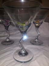 Martini Glasses with matching markers in New Orleans, Louisiana