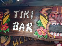 Tiki bar plaque in Lakenheath, UK