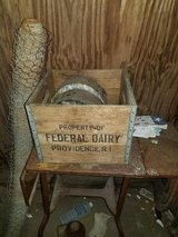 Antique Milk Crate/ Antique Federal Dairy Providence RI USA Milk Wood Box Crate in Galveston, Texas