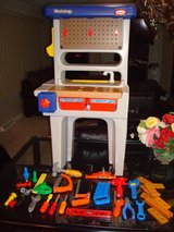 LITTLE TIKES RETIRE TOOLBENCH WITH TOOLS IN SUPER CLEAN SHAPE. in Tinley Park, Illinois