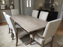 Ethen Allen Oak Dining Table & Chairs in Wilmington, North Carolina