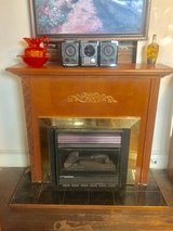NATURAL GAS SPACE HEATER W/FIREPLACE MANTEL in Warner Robins, Georgia