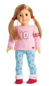 American girl holiday penguin pjs new in box in Aurora, Illinois