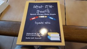 Super Star Speech Therapy Workbook for Children--Gently Used in Ramstein, Germany