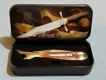 Large Leg - Rough Rider Bowie Commemorative Series An American Legend Folding Knife & Tin RR957 in Leesville, Louisiana