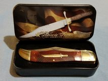 Hunter - Rough Rider Bowie Commemorative Series An American Legend Folding Knife & Tin RR955 in Leesville, Louisiana