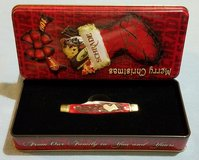 Middleman Stockman - Schrade Old Timer Christmas Limited Edition Pocket Knife & Tin 34RPBCT in Leesville, Louisiana