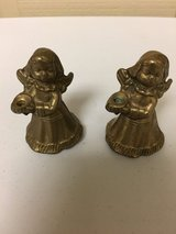MINI BRASS ANGEL CANDLESTICKS in Chicago, Illinois
