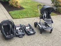 Infant Travel system ( stroller, carseat, & 2 bases) in Olympia, Washington