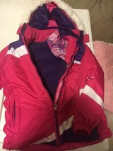 Girls size 14/16 Winter coat with a zip out lighter jacket in Wheaton, Illinois