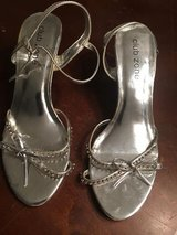 Women's Silver Heels Dress Shoes 7 1/2 in Wheaton, Illinois