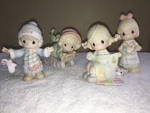 Precious Moments Christmas Winter Annual Figurines 1997, 1999, 2004, 2005 & Easter Egg in Bolingbrook, Illinois