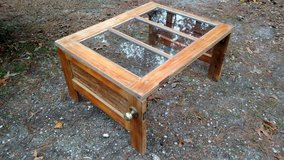 Vintage Wooden Door Re-purposed into a Coffee Table in Camp Lejeune, North Carolina