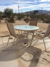 patio set table and 4 chairs in 29 Palms, California