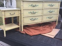 Wood 6 drawer dresser and Night stand in Beaufort, South Carolina