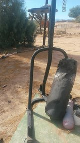 Heavy and speed bag stand in Yucca Valley, California