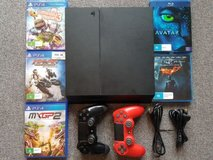 Sony Playstation 4 1TB 2 Controllers Plus 3 Free Games & BluRay Movies in Ansbach, Germany
