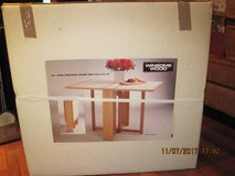 (NEW) Winsome Beechwood Folding Table White/Beech in Vacaville, California