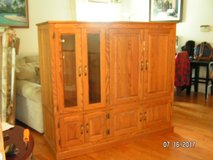 Solid Wood Entertainment Center( can deliver for a fee) (aurora) in St. Charles, Illinois