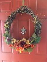 fall wreath in Travis AFB, California