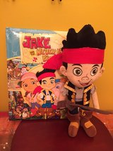 Disney Store Jake and the Neverlabd Pirates plush doll with a book in Plainfield, Illinois