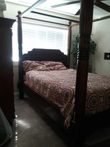 Queen sized canopy bed and matching dresser in Fairfield, California