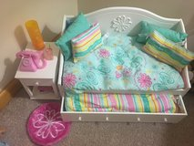 American girl trundle bed and nightstand and access in Orland Park, Illinois