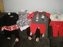 4 new baby girl outfits,,,tags still on...baby shower gift bag included in Beaufort, South Carolina