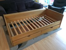 Single/Twin Solid Wood Bed with drawers - 90/200 sized in Oceanside, California
